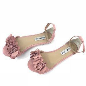 Steve Madden Dorthy Suede Pink Ruffle Sandal
